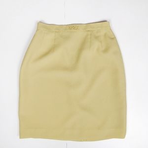 VINTAGE Yellow Mini SKirt